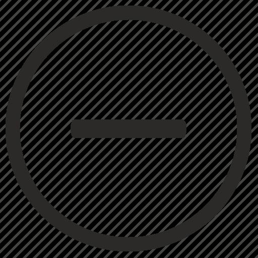 erase, function, math, minus, small icon