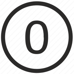 enter, keyboard, number, zero icon