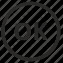 access, confirmation, enter, ok icon