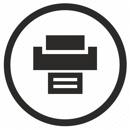 function, mode, print, printer, round icon