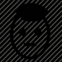 face, head, man, punk, queit icon