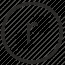keyboard, letter, lowcase, r, virtual icon