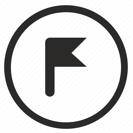 flag, point, pointer, position, round icon