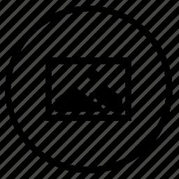 image, photo, pic, picture, round icon