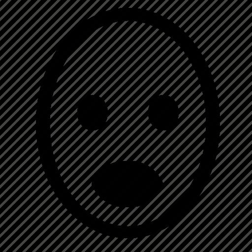 face, head, mood, scream, smiley icon
