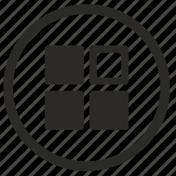 menu, point, select, tile icon
