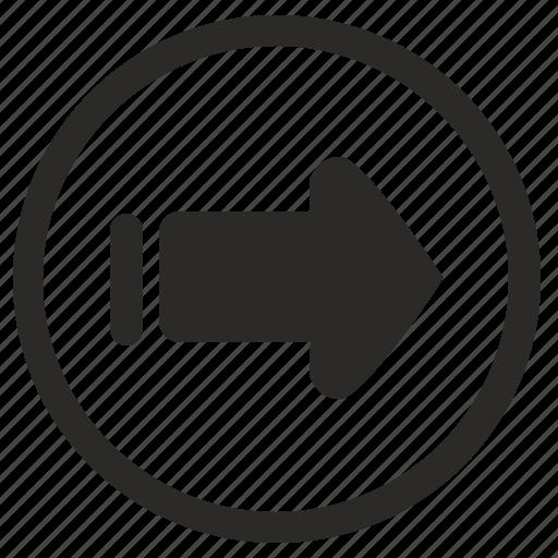 keyboard, navigation, right, slide icon