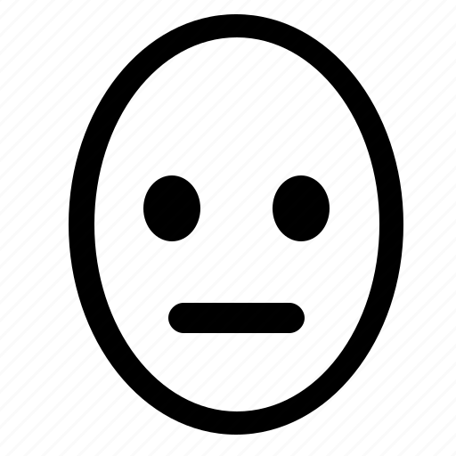 face, head, queit, smiley, think icon