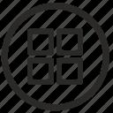 format, menu, metro, style, tile icon