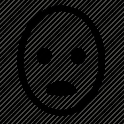 bad, face, feeling, head, smiley, stress, upset icon