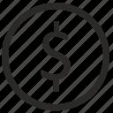 dollar, exchange, money, usd, value icon