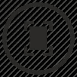 border, camera, focus, photo, round, vertical icon