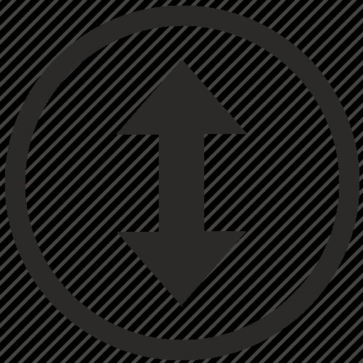 arrows, move, navigation, screen, vertical icon