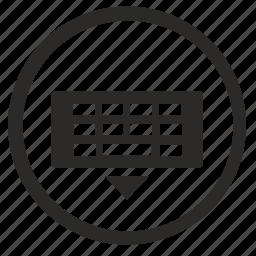 hide, keyboard, panel, virtual icon