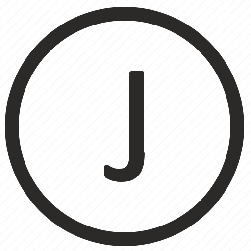 j, keyboard, letter, uppercase, virtual icon