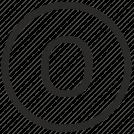 keyboard, letter, o, uppercase, virtual icon