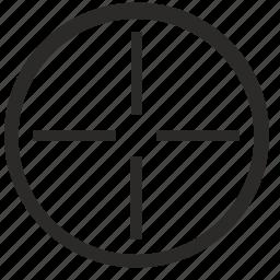 aim, context, keyboard, target, virtual icon
