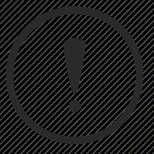 error, notice, round, sign, warning icon