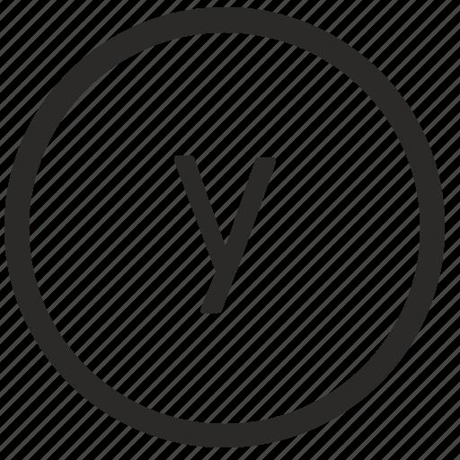keyboard, letter, lowcase, virtual, y icon