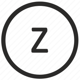 keyboard, letter, lowcase, virtual, z icon