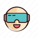 glasses, reality, video, virtual icon
