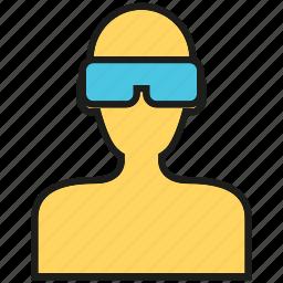 augmented reality, eyewear, gadget, goggle, headset, virtual reality, vr icon