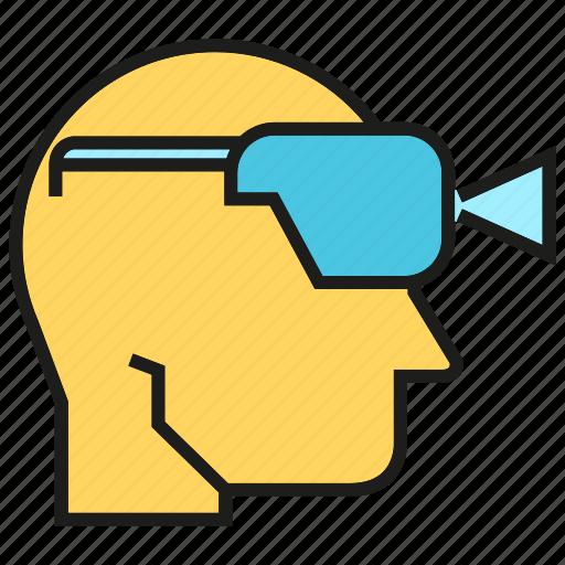 augmented reality, eyeglasses, gadget, game, goggle, headset, virtual reality icon