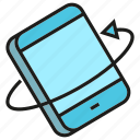 arrow, gadget, mobile, phone, rotate icon