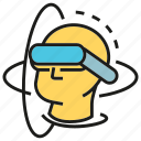 augmented reality, gadget, game, goggle, headset, virtual reality, vr icon