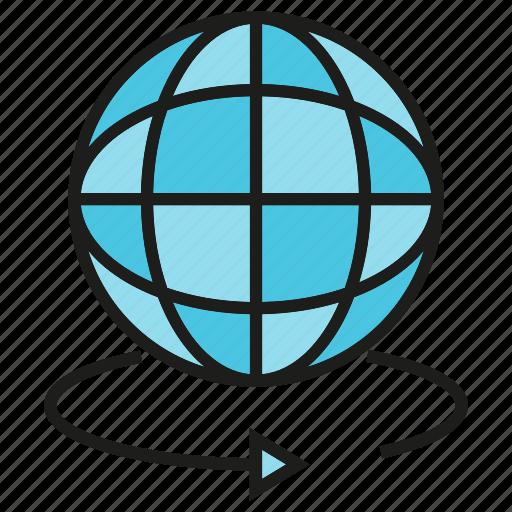 globe, rotate, world icon