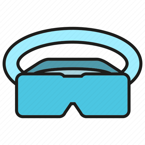 augmented reality, eyeglasses, gadget, goggle, headset, virtual reality, vr icon