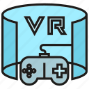 augmented reality, controller, gadget, game, goggle, joystick, virtual reality icon