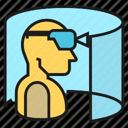 augmented reality, eyeglasses, game, goggle, headset, virtual reality, vr icon
