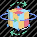 3d, cube