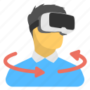 3d glasses, virtual glasses, virtual goggles, virtual reality headset, vr glasses icon