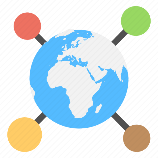 communication network, global communication, global connectivity, global network, information technology concept icon