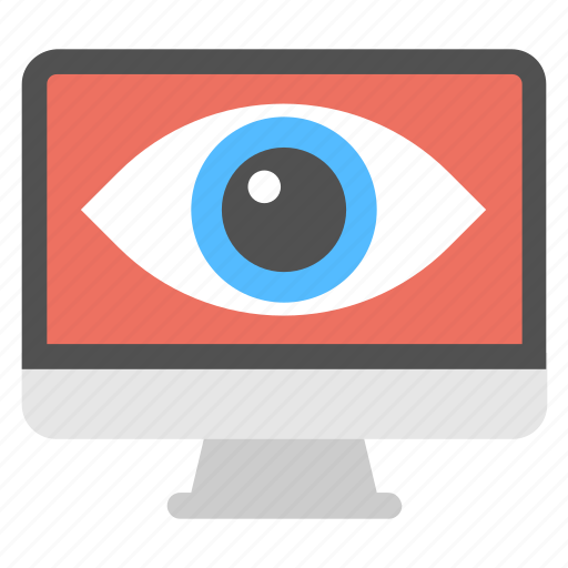 cyber eye, cyber monitoring, cyber security concept, cybernetics, mechanical eye vision icon