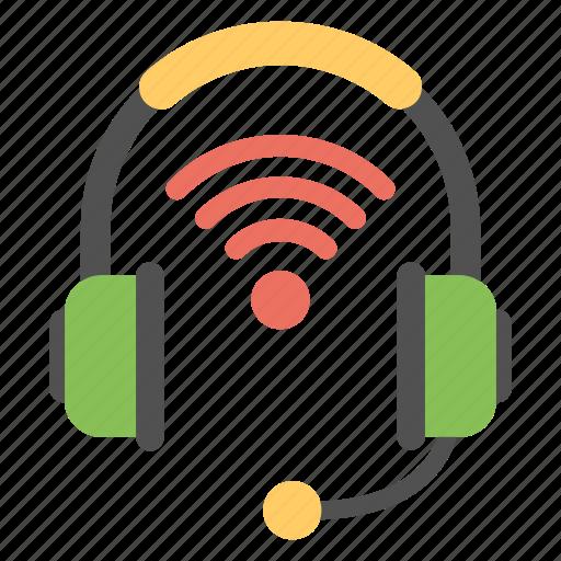 modern wireless technology, wifi earphones, wifi headphones, wifi music, wireless headphones icon