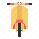 motor scooter, motorbike, retro motorcycle, scooter, vespa icon