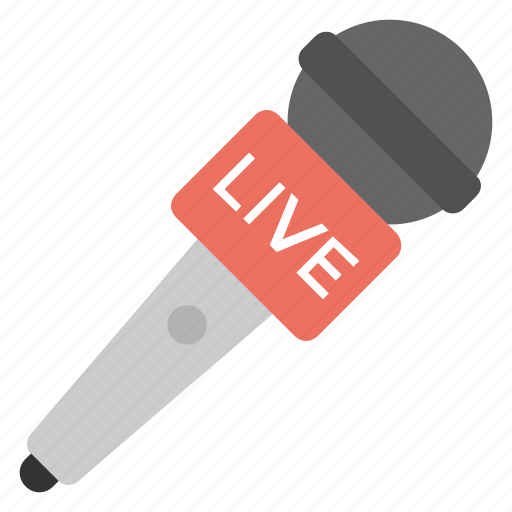 live music, live performance, live singing, live sound, live vocal microphone icon