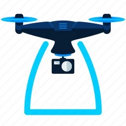 drone, photography, surveillance icon
