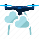 cloudy, device, drone, technology, weather icon
