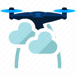 cloud, drone, weather icon