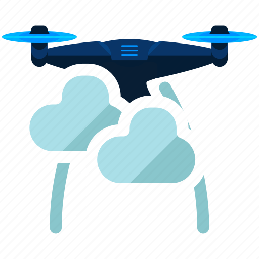 Drone, weather, cloud, cloudy, copter, technology, device icon - Download on Iconfinder