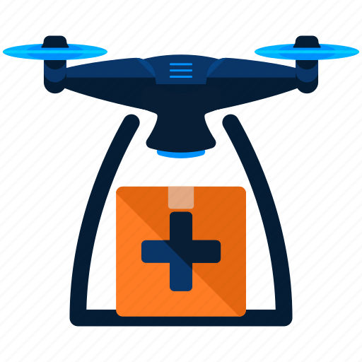 drone, medical icon