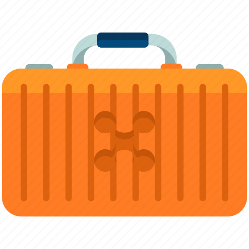 baggage, case, drone, luggage, safety, security icon