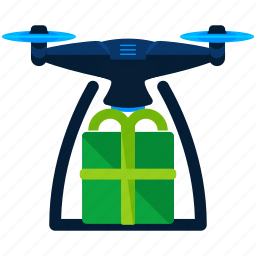 drone, gift icon
