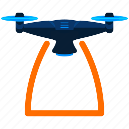 device, drone, scan, span, technology icon