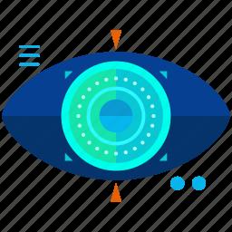 virtual reality, vision icon