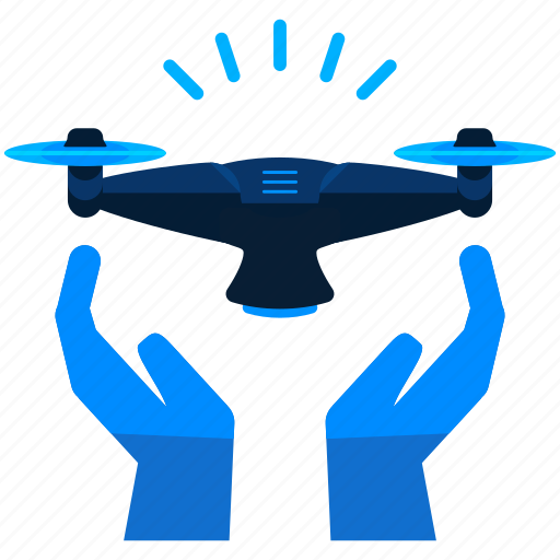 device, drone, gesture, hand, handled, technology icon